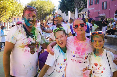 CooperVision France color run event