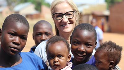 Lisa Jenkins Optometry Giving Sight ambassador in Uganda