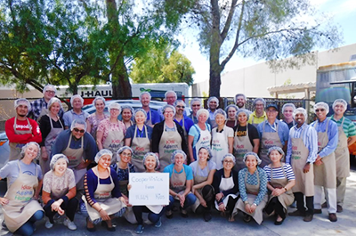CooperVision research and development employees at kids against hunger