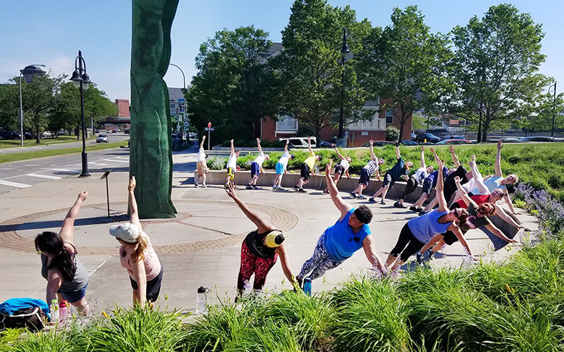 CooperVision wellness activity for employees